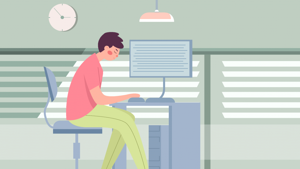иллюстрация редактор пишет контент план как создавать много качественного контента