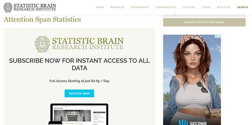 скрин static brain платный доступ к результатам исследования.